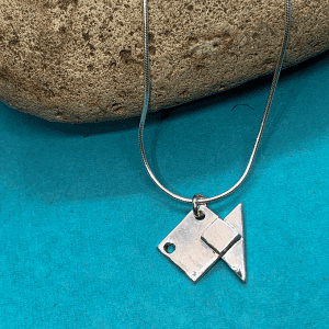 Fish origami inspired Chain Necklace