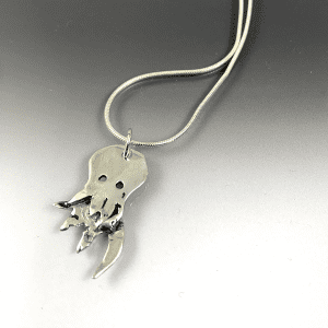 octopus origami necklace