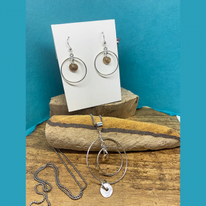 Circular Necklace and Earrings set