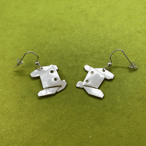 Crab Origami Earrings