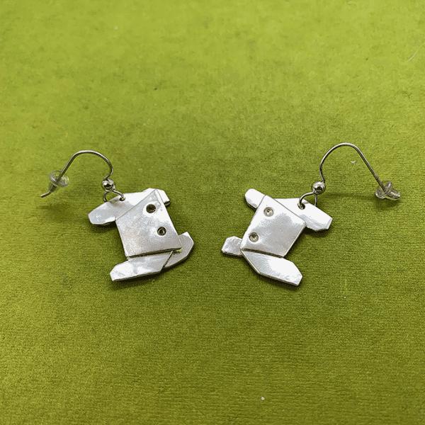Crab Origami Earrings