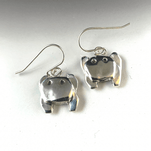 Crab Origami Earrings Small