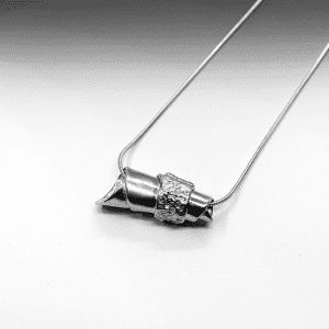 Pewter Message necklace