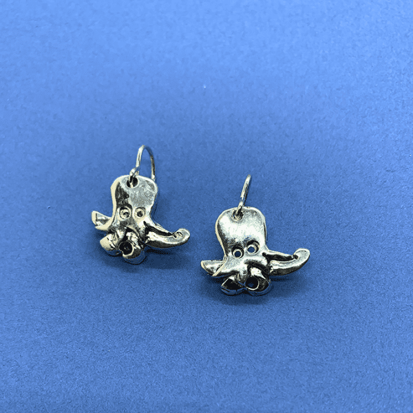 octopus small earrings