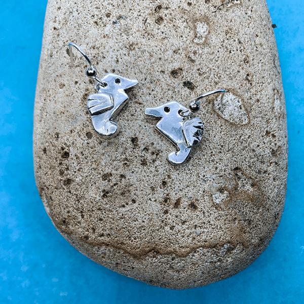 Seahorse Origami Inspired Earrings