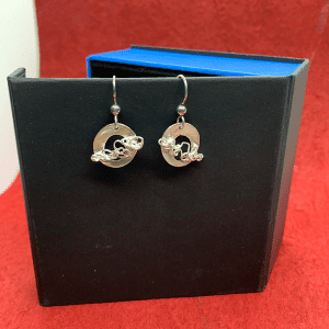 Nest Circular earrings Fine silver