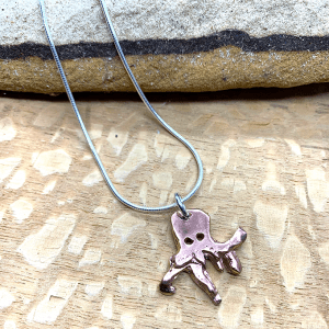 Copper octopus necklace