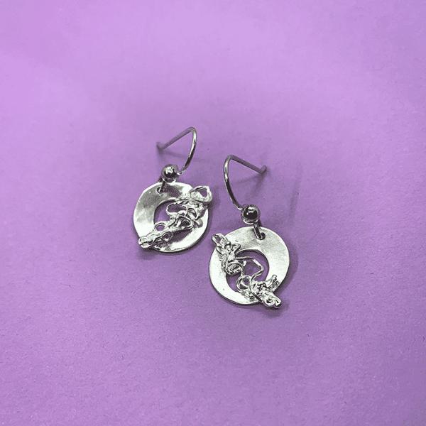 nest circular earrings