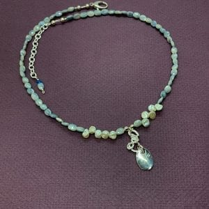 oval silverite necklace