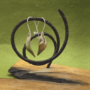 leaf earrings, Bronze