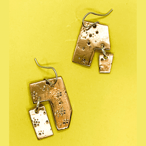 Fireworks copper Earrings, Fragment