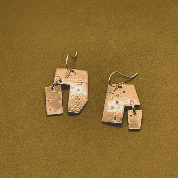 Fireworks Copper Earrings