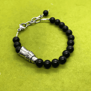 The Message Bracelet black onyx