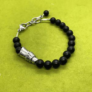 The Message Bracelet black onyx