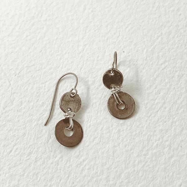 Disk Duo Earrings