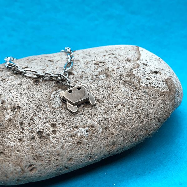 Crab Origami Bracelet, 2 tone