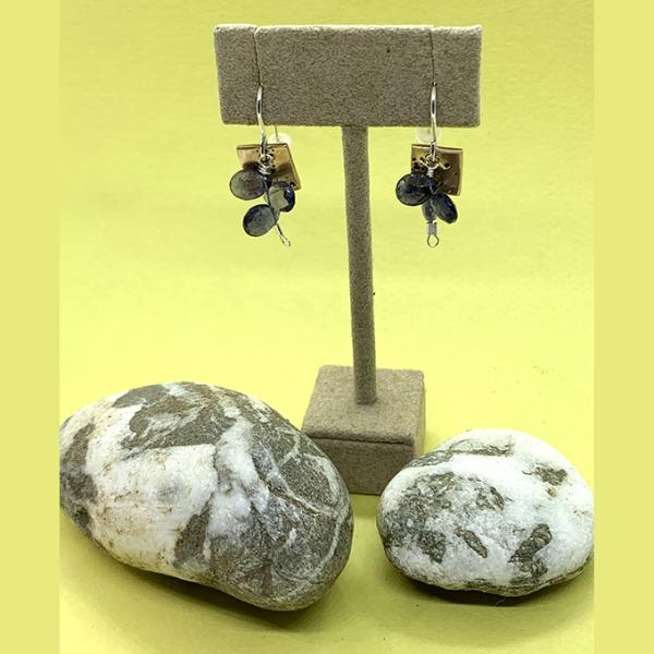Fireworks bronze earrings