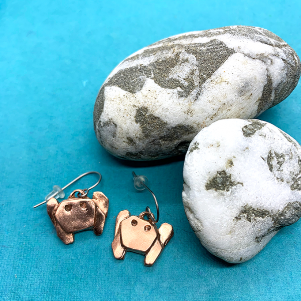 Crab Copper earrings