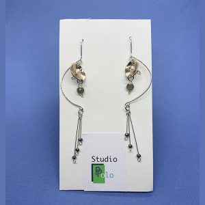 Curve 2 tone Earrings