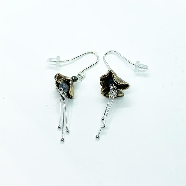 Flora Earrings, Bronze