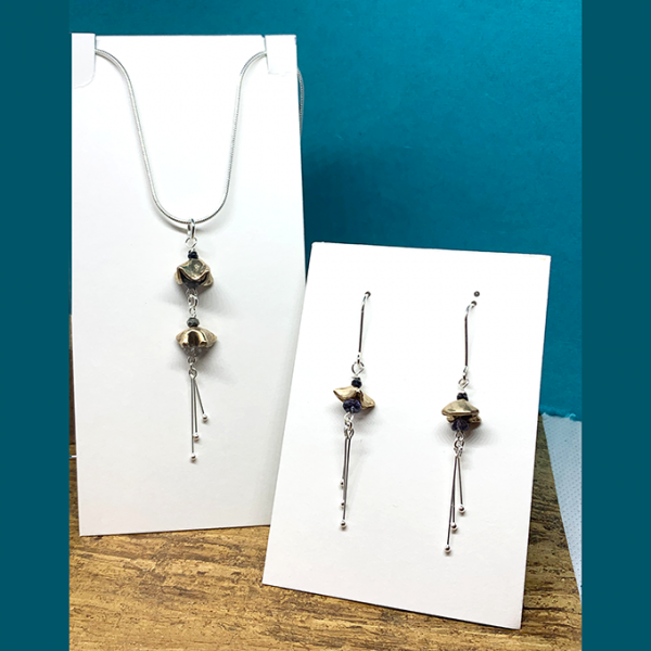 Flora Necklace and Earrings set